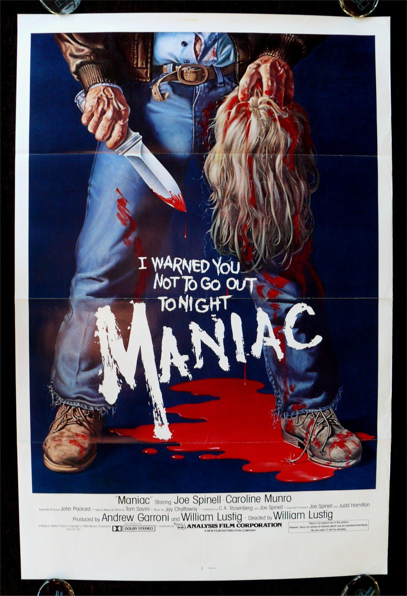 3 peliculas para Halloween 2016 Maniac