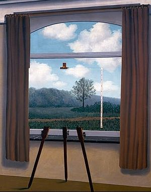 "Image of the Magritte painting, ""The Human Condition"""
