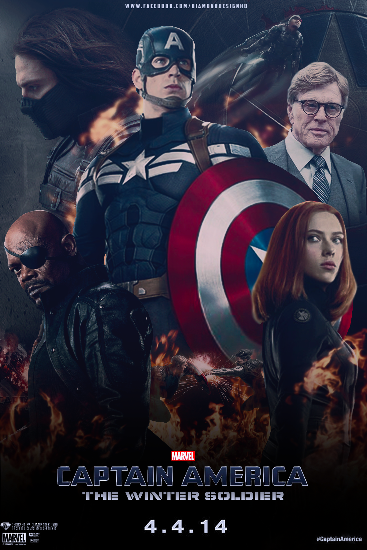 Captain America The Winter Soldier 2014 BluRay 720p 650MB ( Hindi – English ) ESubs MKV