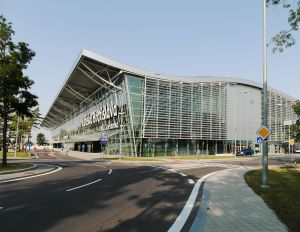 """Bratislava Airport new terminal BTS"" by Andrej Neuherz - http://www.geolocation.ws/v/P/81459659/bratislavsk-letiskov-terminl/en. Licensed under CC BY-SA 3.0 via Wikimedia Commons - http://commons.wikimedia.org/wiki/File:Bratislava_Airport_new_terminal_BTS.jpg#mediaviewer/File:Bratislava_Airport_new_terminal_BTS.jpg"
