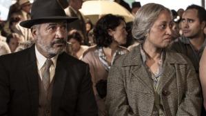 Temuera Morrison as Grandfather Mahana and Nancy Brunning as Ramona Mahana
