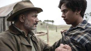 Temuera Morrison as Grandfather Mahana and Akuhata Keefe as Simeon Mahana