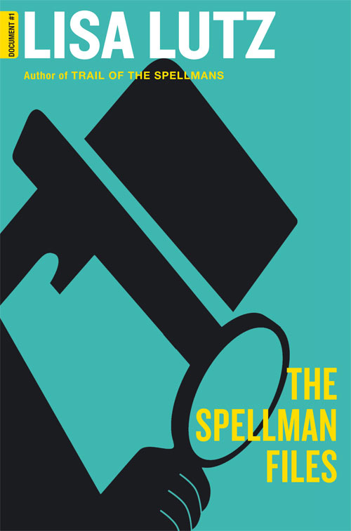 The book cover showing a stylized detective with a  magnifying glass.
