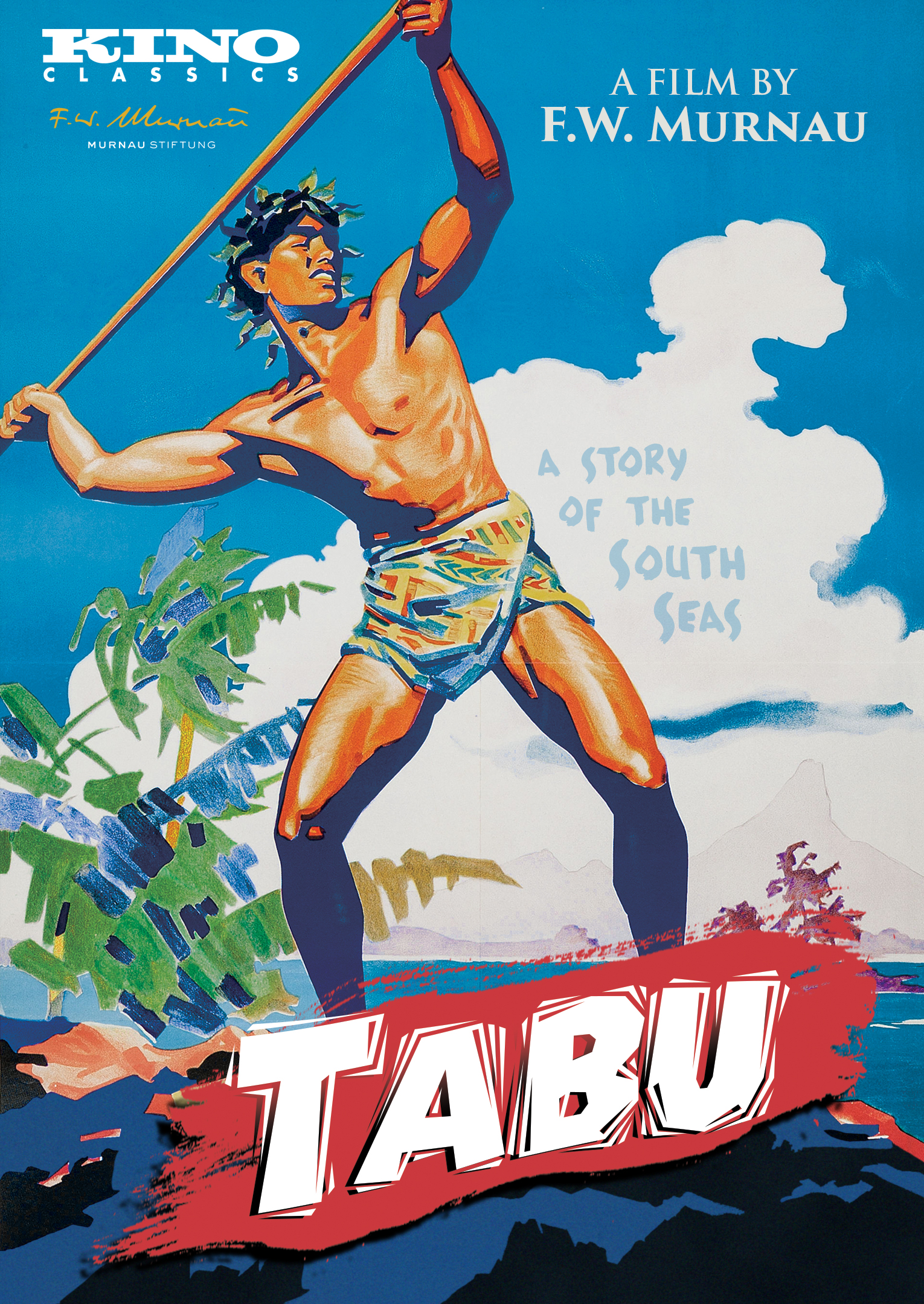 The film poster showing a drawing of Matahi (Matahi) as he spear-fishes.