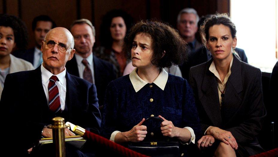 Jeffrey Tambor, Helena Bonham Carter and Hilary Swank in the film.