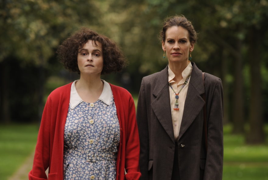 Helena Bonham Carter and Hilary Swank in the film.