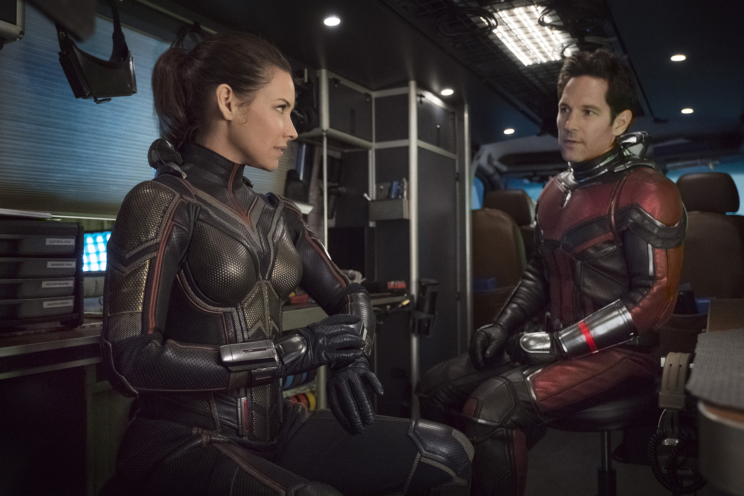 Evangeline Lilly and Paul Rudd in the film.