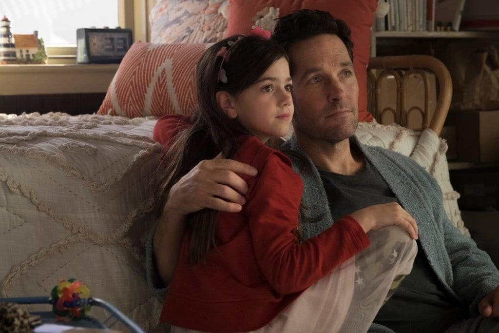 Abby Ryder Fortson and Paul Rudd in the film.