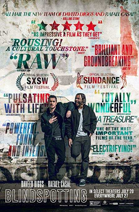 The film poster showing Rafael Casal and Daveed Diggs leaning against a wall.