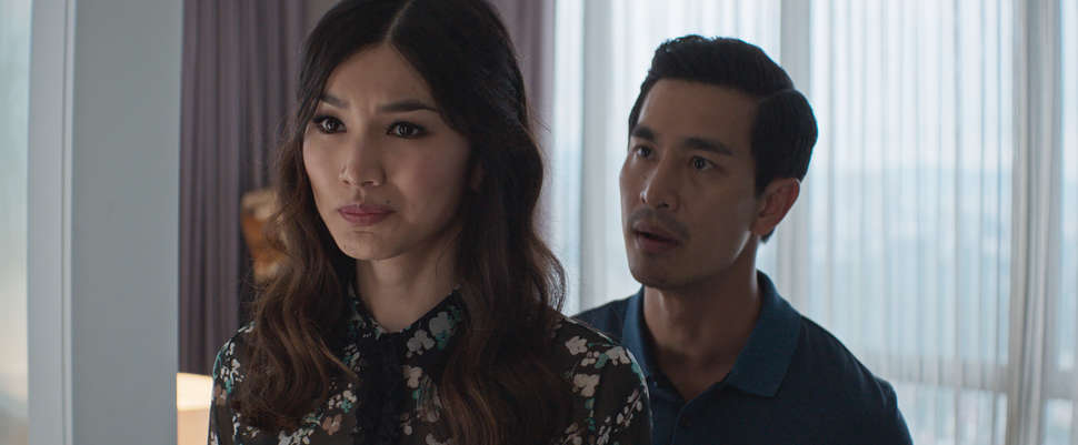 Gemma Chan and Pierre Png in the film.