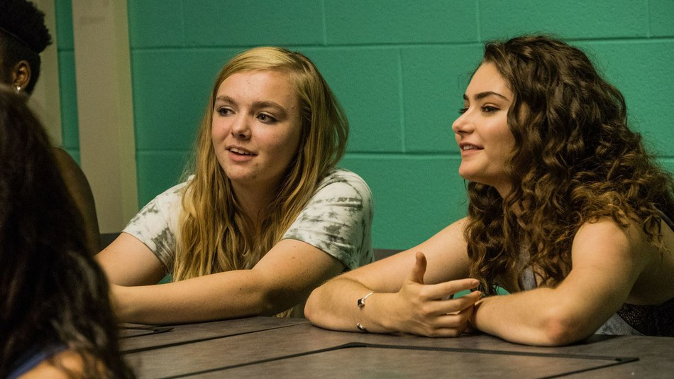 Elsie Fisher and Emily Robinson in the film.