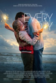 Film poster for Every Day, showing a couple kissing on a beach.