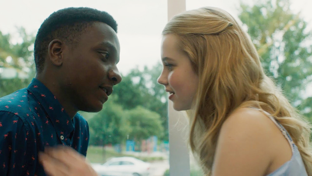Sean Jones and Angourie Rice in the film.