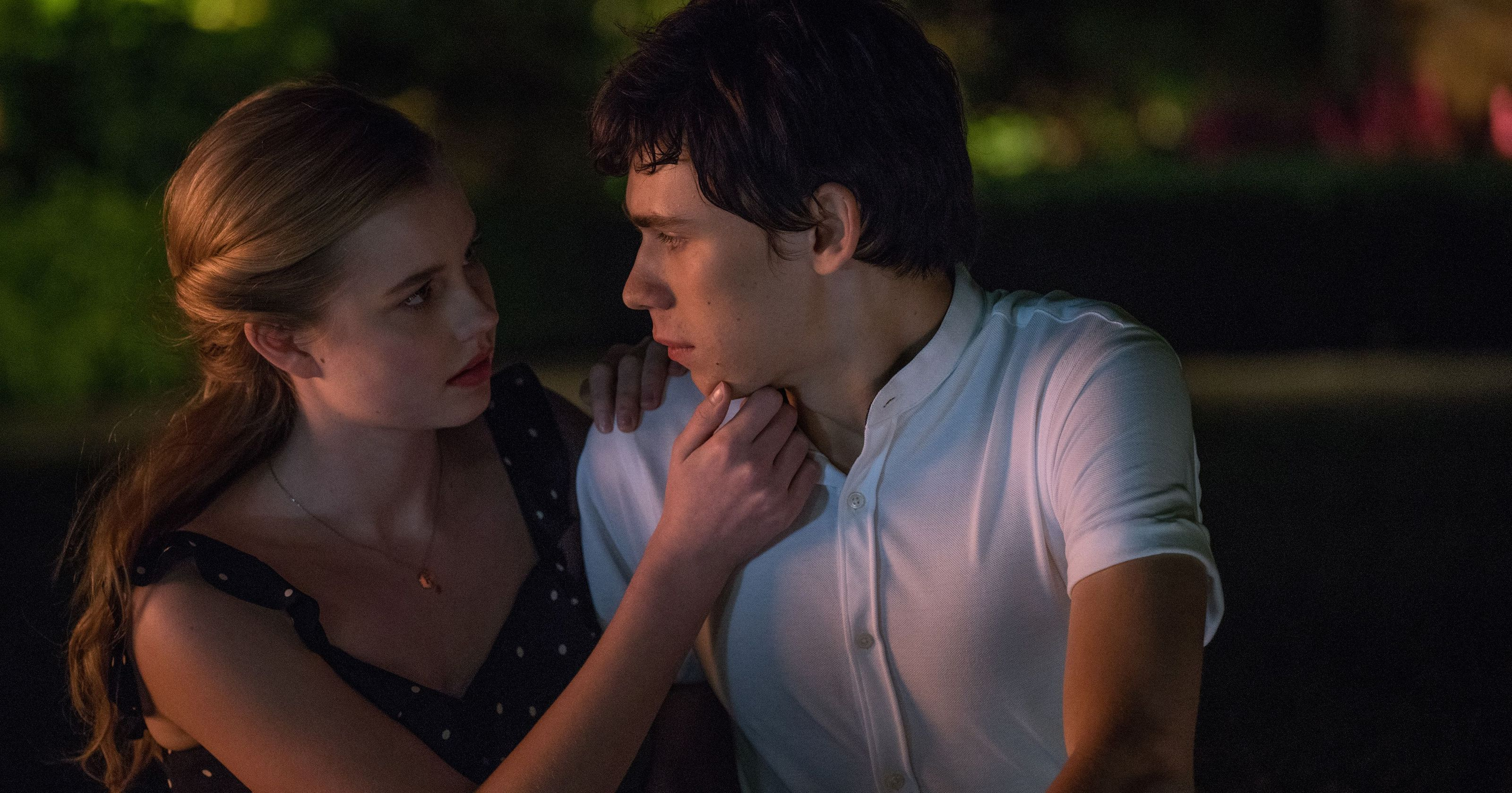 Angourie Rice and Owen Teague in the film.