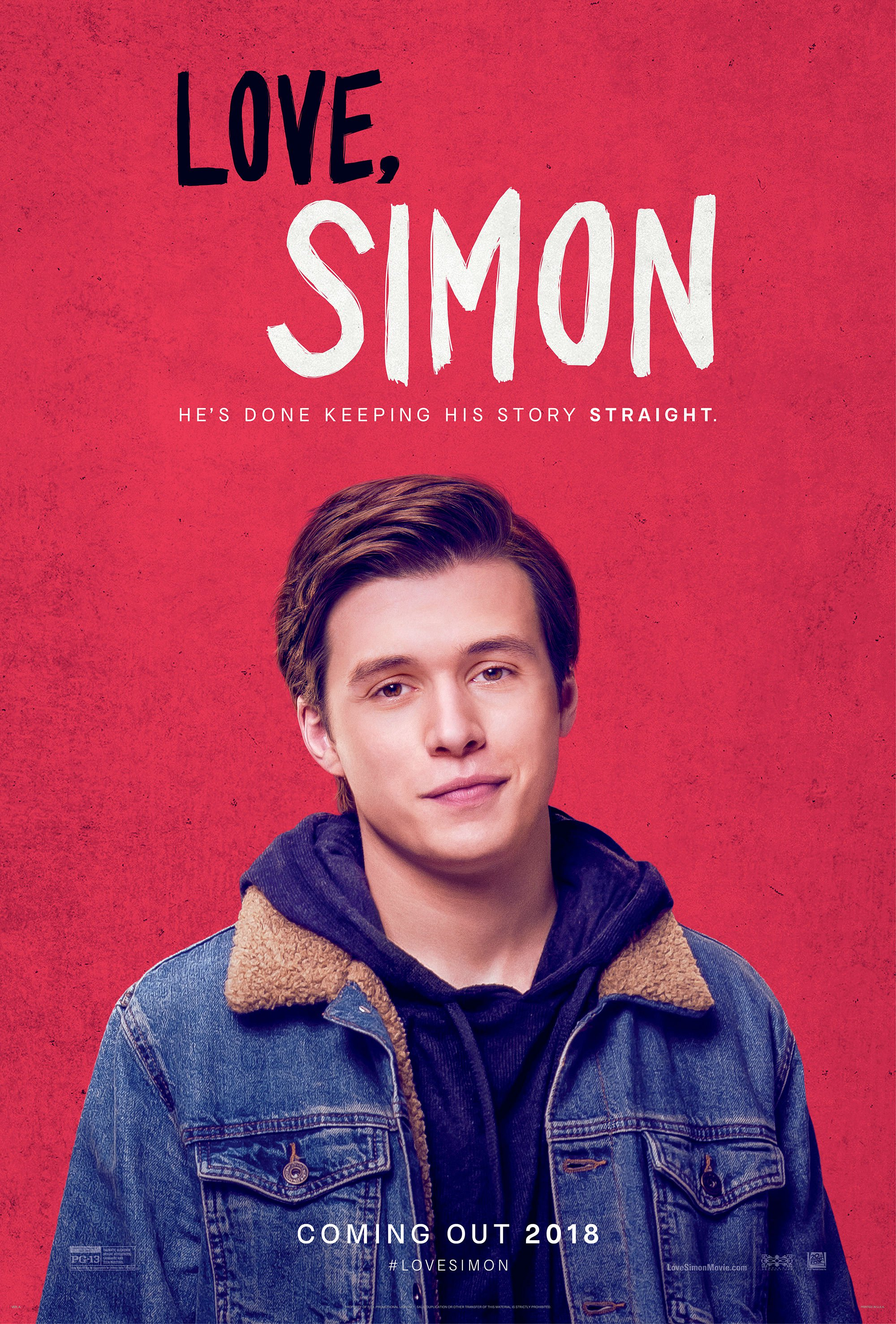 Film poster showing Nick Robinson in front of a red background.