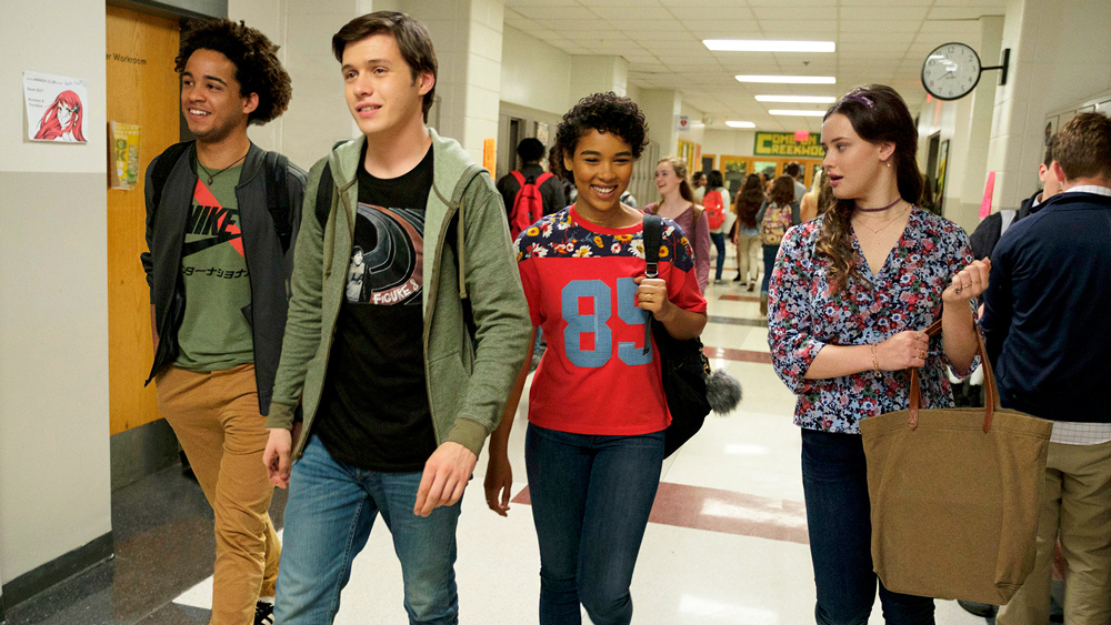 Jorge Lendeborg Jr., Nick Robinson, Alexandra Shipp and Katherine Langford in the film.
