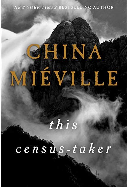 Book cover of This Census-Taker showing a mountain with thick fog in black and white.