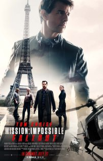 The film poster showing The main cast, the Eiffel Tower and two helicopters.