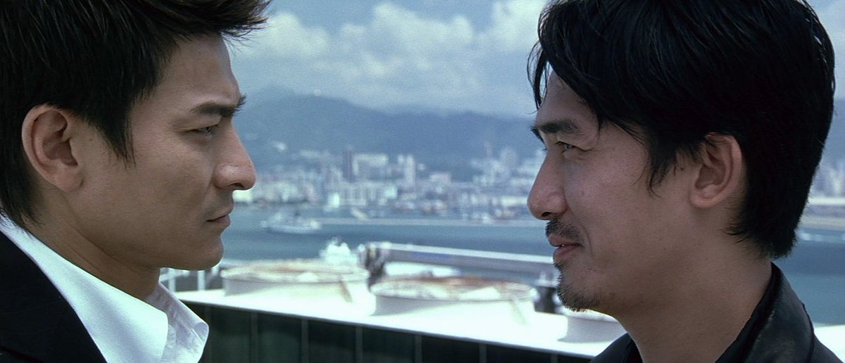 Andy Lau and Tony Chiu-Wai Leung in the film.