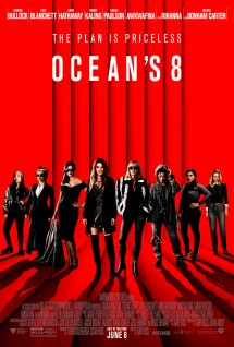 Film poster showing the eight main women in front of a red background.