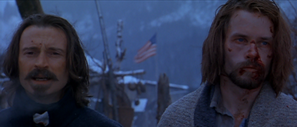 Robert Carlyle and Guy Pearce in the film.