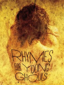 Film poster showing a cowering naked girl from behind with the film title written across her back.