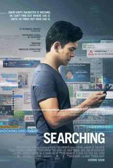 The film poster showing John Cho looking at a smart phone.