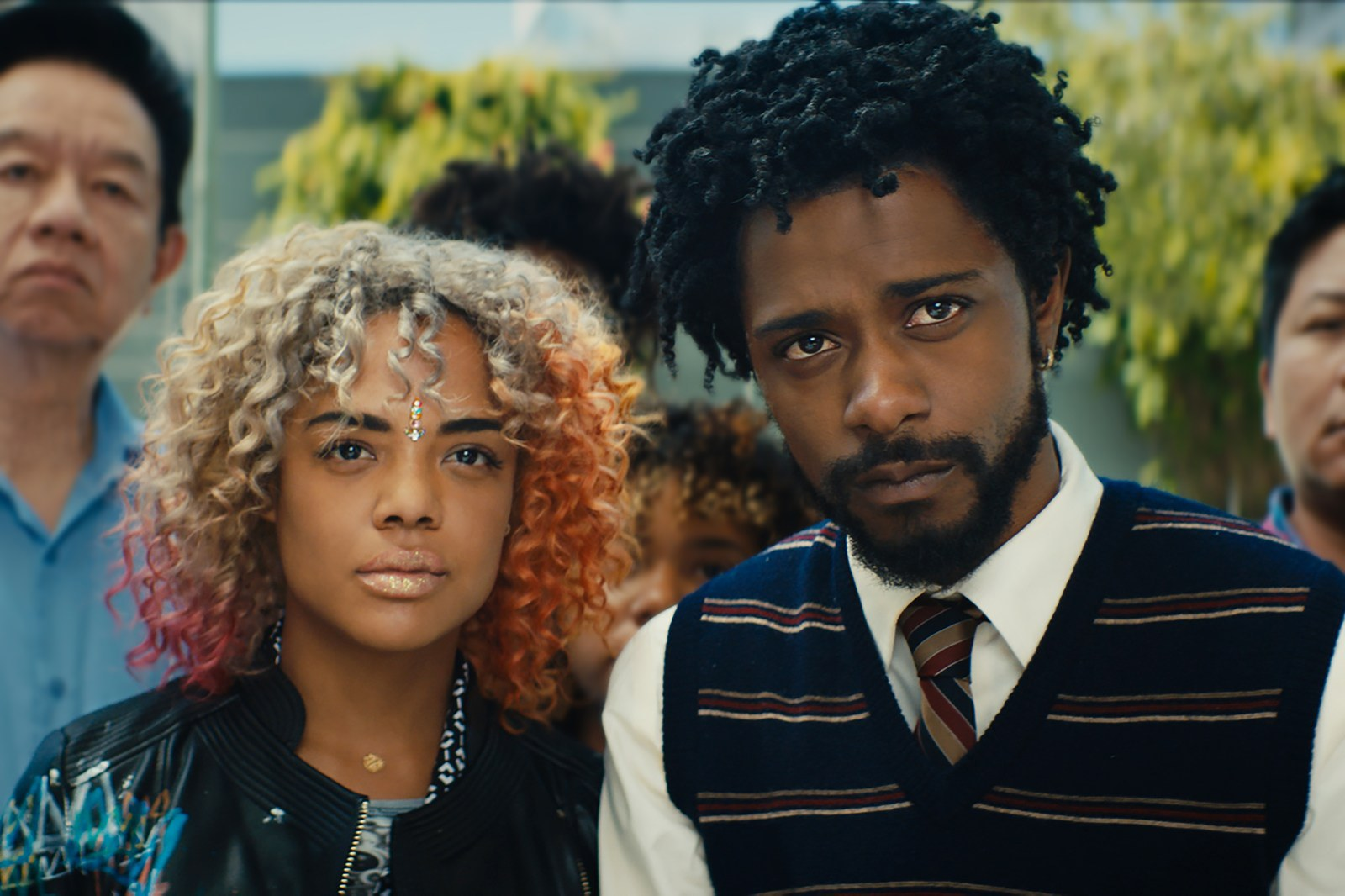 Tessa Thompson and LaKeith Stanfield in the film.