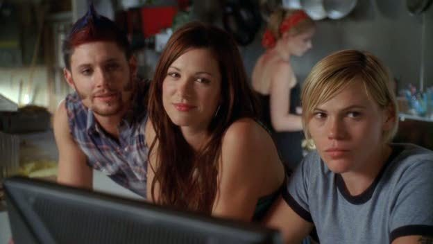 Jensen Ackles, Danneel Ackles and Clea DuVall in the film.