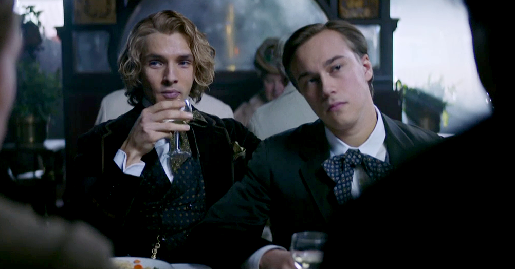 Colin Morgan (Alfred Bosie Douglas) in The Happy Prince