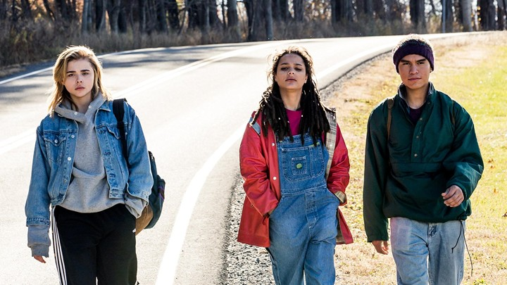 Chloe Grace Moretz, Sasha Lane and Forrest Goodluck in the film.
