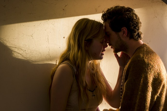 Odessa Young and Aaron Taylor-Johnson in the film.