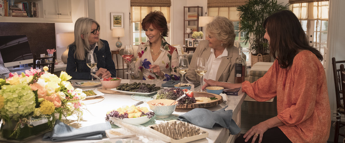 Diane Keaton, Jane Fonda, Candice Bergen and Mary Steenburgen in the film.