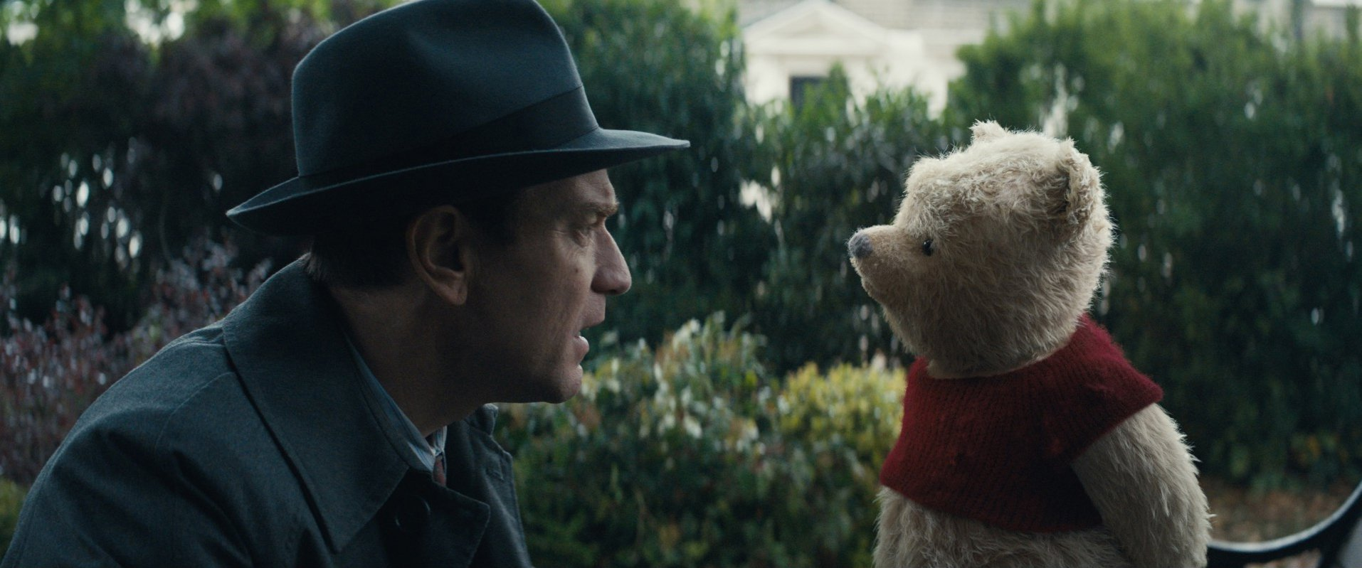 Ewan McGregor and Winnie-the-Pooh in the film.