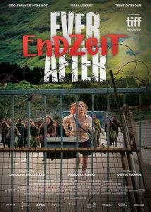 The film poster showing Gro Swantje Kohlhof running away from a zombie horde.