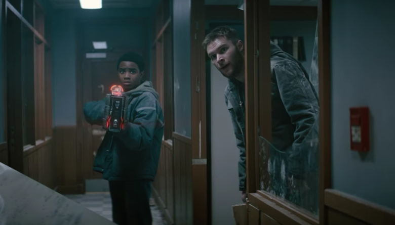 Myles Truitt and Jack Reynor in the film.