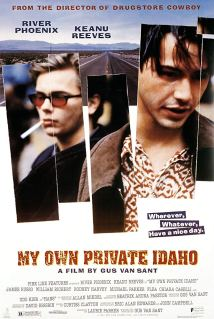 The film poster showing River Phoenix and Keanu Reeves.