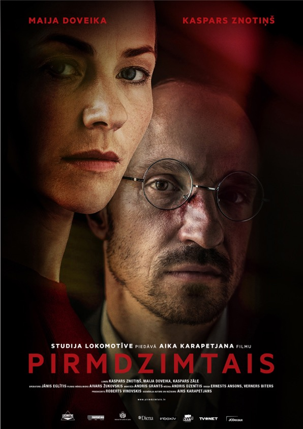 The film poster showing Maija Doveika and Kaspars Znotins.