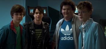 Graham Verchere, Judah Lewis, Caleb Emery and Cory Grüter-Andrew in the film.