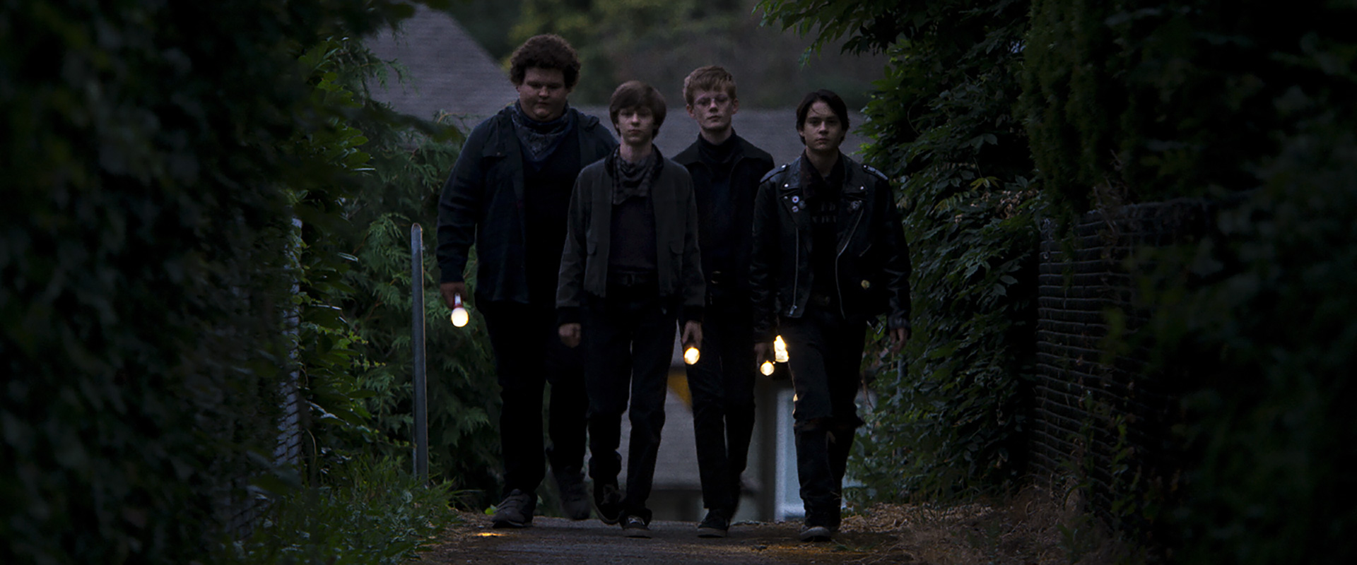 Caleb Emery, Graham Verchere, Cory Grüter-Andrew and Judah Lewis in the film.