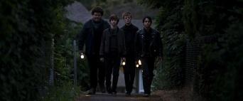 Caleb Emery, Graham Verchere, Cory Grüter-Andrew and Judah Lewis in the film.