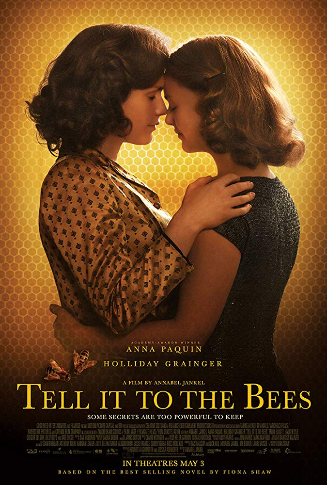 The film poster showing Anna Paquin and Holliday Grainger embracing in front of a honeycomb background.