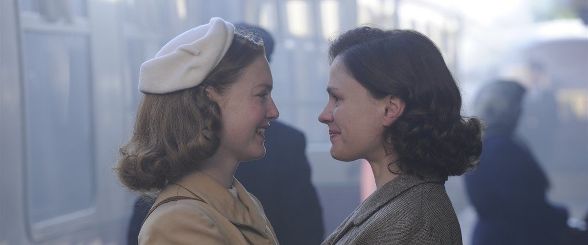 Holliday Grainger and Anna Paquin in the film.