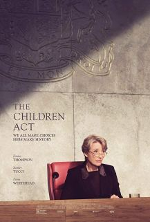 The film poster showing Emma Thompson as a judge in court.