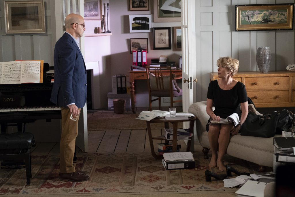 Stanley Tucci and Emma Thompson in the film.