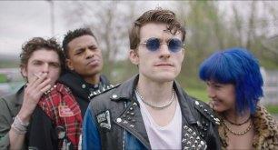 Bubba Weiler, Jeremy Pope, Granit Lahu and Amanda Grace Benitez in the film.