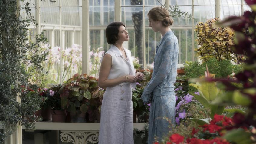 Gemma Arterton and Elizabeth Debicki in the film.