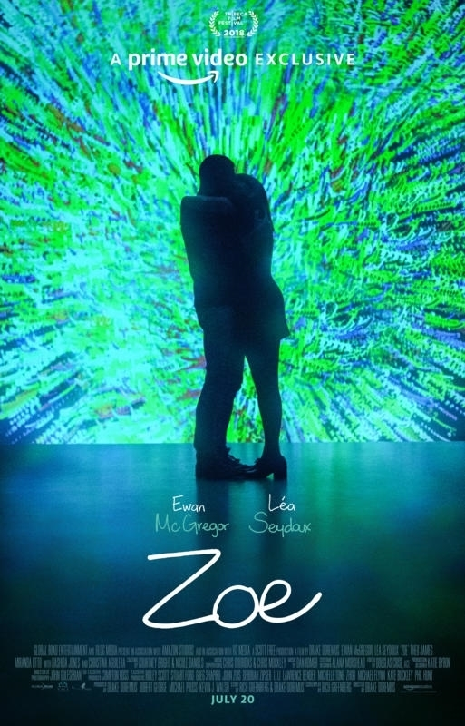 The film poster showing Ewan McGregor and Léa Seydoux embracing in front of a blue-green background.