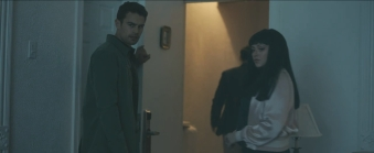 Theo James and Christina Aguilera in the film.