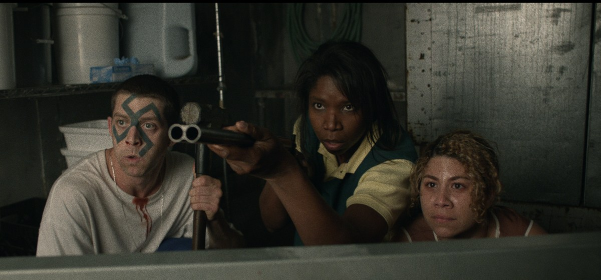 Jon Oswald, Nicki Micheaux and Santana Dempsey in the film.